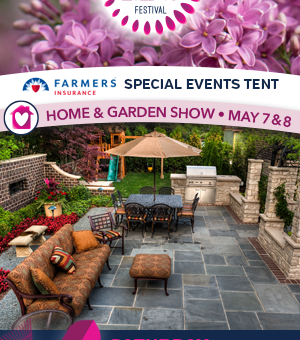 Home & Garden ad for the Rochester Lilac Festival