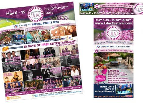 Rochester Lilac Festival ads